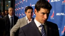 Sidney Crosby, front, and his fellow players have been warned about ill-timed quotes that could weaken bargaining power. (Chris Young/Canadian Press)