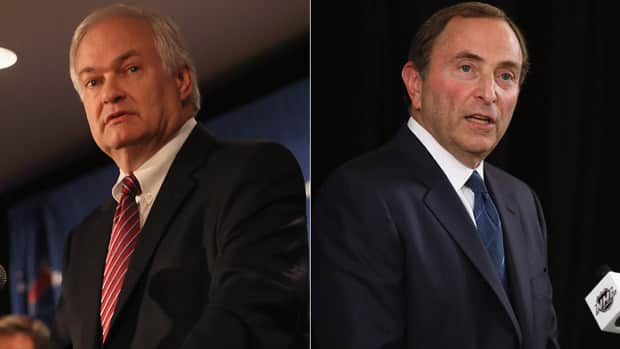 NHLPA head Donald Fehr, left, and league commissioner Gary Bettman remain embroiled in a lockout stalemate. (Getty Images)