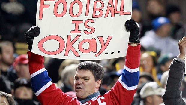 CFL football is just one of the other sports that have benefited from the NHL lockout. (Dave Chidley/Canadian Press)