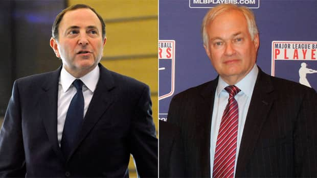 NHL Commissioner Gary Bettman, left, and NHLPA president Donald Fehr continue to be in the spotlight as the sides are still trying to reach an agreement. (AP Photos)