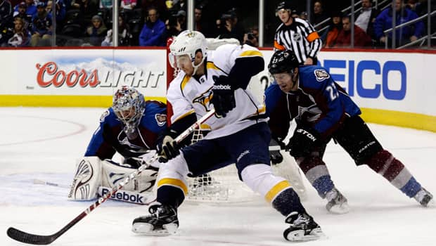 Monday's game between the Colorado Avalanche and Nashville Predators had a bad call that could have merited a challenge. (Joe Mahoney/Getty Images)