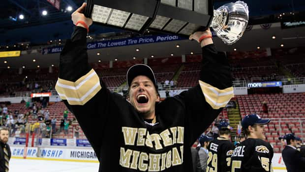 Western Michigan defenceman Dan DeKeyser is considered one of the top free agents in U.S. college hockey this season. (Carlos Osorio/Associated Press)