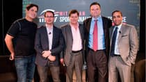 Speakers from left to right: Dallas Mavericks owner Mark Cuban, political and sports statistician Nate Silver,