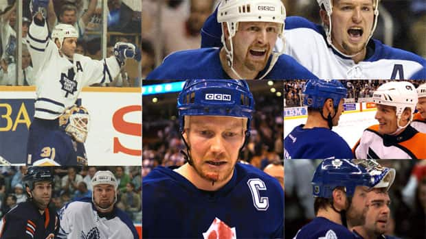 Just a few of the moments from past Maple Leafs playoff contests. The team will finally break their post-season appearance drought in 2013. (Photos courtesy Canadian Press/Getty Images)