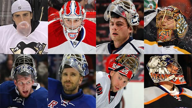 The eight starting goaltenders from the NHL's Eastern Conference. Which of these goalies will carry their team to the Stanley Cup final? (Photos courtesy Getty Images)