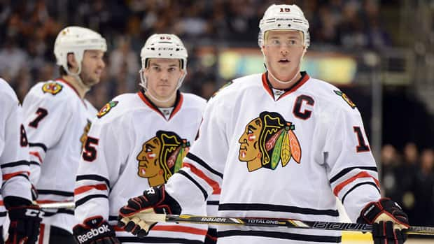 Captain Jonathan Toews, right and the top-seeded Blackhawks are going for their second Stanley Cup in four years. (Harry How/Getty Images)