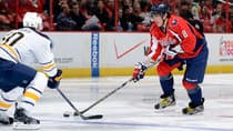Capitals sniper Alex Ovechkin, right, is a candidate for the Hart Trophy as the NHL's MVP. (Greg Fiume/Getty Images)