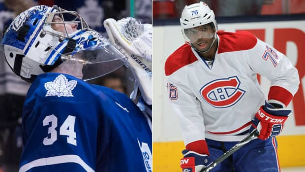 A playoff clash between P.K. Subban's, right, Montreal Canadiens and James Reimer's, left, Toronto Maple Leafs would be a dream matchup for many fans across Canada. (Canadian Press/Getty Images)