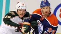 Defenceman Ryan Suter, left, may win the Norris Trophy in just his first season with the Minnesota Wild. (John Ulan/Canadian Press)