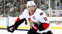 Ottawa captain Daniel Alfredsson made waves with some comments after the Senators' lopsided Game 4 loss. (Justin K. Aller/Getty Images)