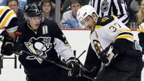 Evgeni Malkin, left, and Patrice Bergeron will likely attract much of the attention on offence in NHL Eastern Conference final. (Justin K. Aller/Getty Images)