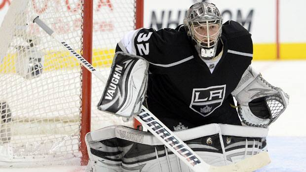 Jonathan Quick's key post-season stats are comparable to the ones he posted last year, when he led the Kings to the Stanley Cup and won playoff MVP honours. (Harry How/Getty Images)
