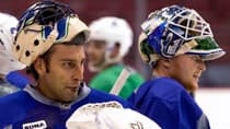 Vancouver Canucks goaltenders Roberto Luongo, left, and Cory Schneider have been the subject of plenty of trade rumours over the course of the season. (Ben Nelms/Reuters)