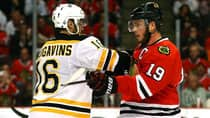The Bruins and Blackhawks are doing battle in the Stanley Cup final. (Bruce Bennett/Getty Images)