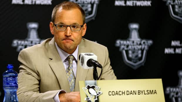 There continues to be plenty of speculation that Pittsburgh Penguins coach Dan Bylsma could be fired after the team suffered an embarrassing sweep to the Boston Bruins. (Bruce Bennett/Getty Images)