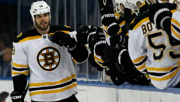 Nathan Horton (18) of the Bruins has seven goals, 17 points and, most telling, is a plus-21 in 16 playoff games this spring. (Bruce Bennett/Getty Images)