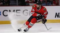Chicago's Viktor Stalberg is averaging 10:52 of ice time in the playoffs, compared to 14:07 in the regular season. (Jonathan Daniel/Getty Images)