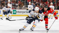 Thomas Vanek (26), the subject of trade rumours despite leading the Buffalo Sabres with 41 points, signed a seven-year, $50-million offer sheet from the Edmonton Oilers in 2007 that the Sabres matched to keep him. (Jim McIsaac/Getty Images)