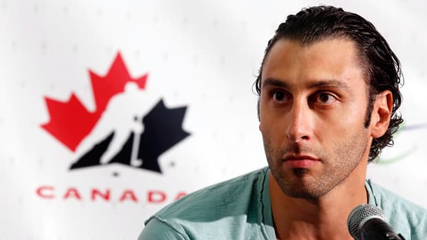 Roberto Luongo during the Canadian national men's team orientation camp press conference in Calgary Sunday, Aug. 25, 2013. (Jeff McIntosh/The Canadian Press)
