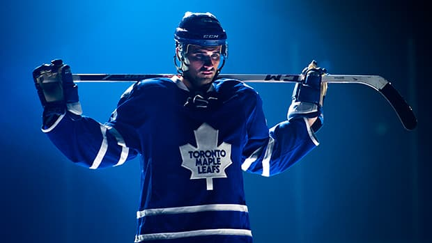 Centre Nazem Kadri signed a two-year, $5.8-million US deal on the eve of the start of Wednesday's camp, ending contentious contract talks between the restricted free agent centre and the Toronto Maple Leafs. (Nathan Denette/Canadian Press)