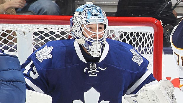 The addition of Jonathan Bernier from the Kings gives the Maple Leafs a potentially strong tandem between the pipes with James Reimer, says CBCSports.ca hockey writer Mike Brophy. (Claus Andersen/Getty Images)