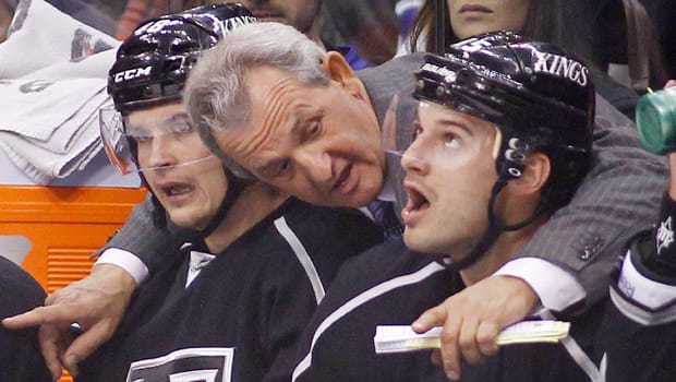 Brad Richardson, right, won a Stanley Cup with the Los Angeles Kings under the tutelage of old-school coach Darryl Sutter. (Danny Moloshok/Reuters)