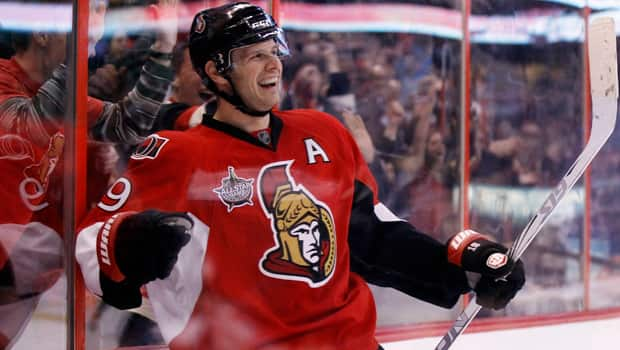 Jason Spezza of the Senators is swapping his assistant captain's