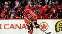 The Calgary Flames have been on fire with rookie Sean Monahan, who has a five-game point streak, including four goals and six points. (Candice Ward/USA TODAY Sports/Reuters)