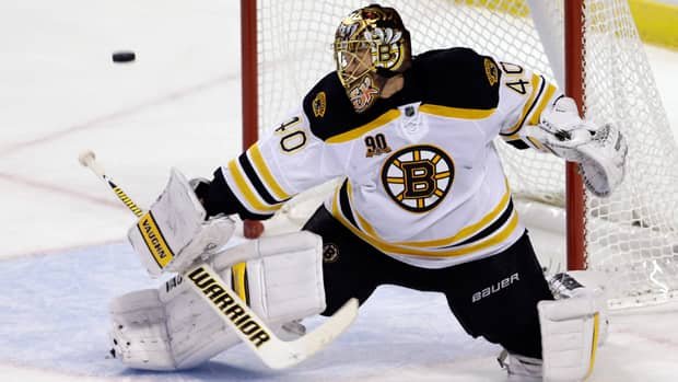 Tuukka Rask has been solid for the Boston Bruins, posting a 1.71 in six winning starts so far this season. (Alan Diaz/Associated Press)