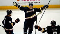 The speculation has been this season is Teemu Selanne's farewell's tour, but nobody really knows for sure, writes Tim Wharnsby. (Mike Blake/Reuters)