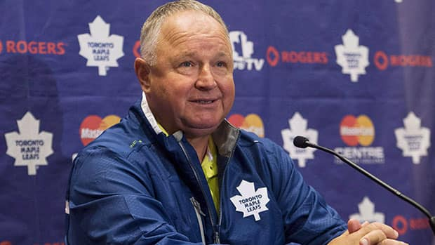 Randy Carlyle says he's not as prone to angry outbursts since taking over the Leafs' bench following his tenure in Anaheim. (Nathan Denette/Canadian Press)