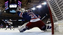 Hockey Night in Canada analyst Kelly Hrudey likes what he sees in Rangers netminder Henrik Lundqvist, who is spectacular. (Bruce Bennett/Getty Images)