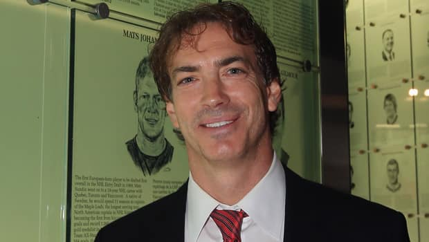 Hall of Famer Joe Sakic is thriving in Denver as executive vice-president of hockey operations for the Colorado Avalanche. (Bruce Bennett/Getty Images)