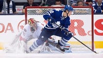 Toronto Maple Leafs' Mason Raymond scores the game-winning shootout goal against the Ottawa Senators using the spin-o-rama move on goaltender Craig Anderson Saturday October 5, 2013. (Frank Gunn/The Canadian Press)