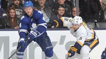 Defenceman Cody Franson spent two seasons with the Nashville Predators before joining the Toronto Maple Leafs in a trade in 2011. (Claus Andersen/Getty Images)