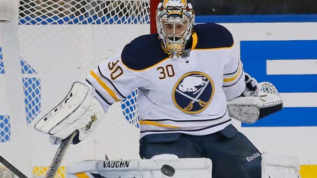 Goalie Ryan Miller has impressed Hockey Night in Canada analyst Kelly Hrudey, despite his 3-11 record and GAA of 3.28. (Paul Bereswill/Getty Images)