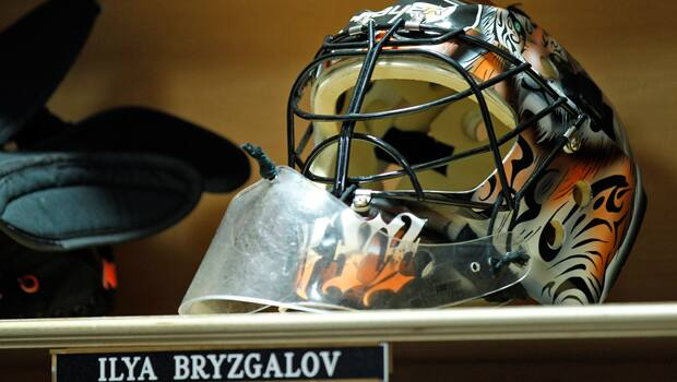 Oilers fans will discover quickly about Ilya Bryzgalov that the man behind the mask can be as entertaining as he is enigmatic. (Alex Brandon/Associated Press)
