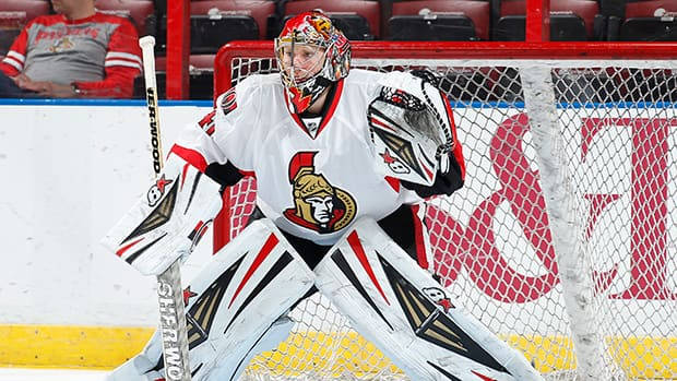 Goaltender Craig Anderson of the Ottawa Senators has been off his game lately. (Joel Auerbach/Getty Images)