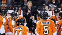 Philadelphia Flyers coach Craig Berube during a game against the Florida Panthers in Philadelphia. (Matt Slocum/The Associated Press)