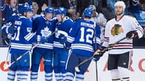 Peter Holland's line, which includes wingers Joffrey Lupul and Mason Raymond, combined for 11 points in the Toronto Maple Leafs' victory over the Chicago Blackhawks. (Chris Young/Canadian Press)