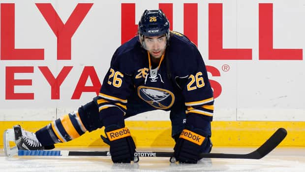 Buffalo Sabres forward Matt Moulson was acquired by the club from the New York Islanders in a trade earlier this season. (Jen Fuller/Getty Images)