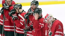 Team Canada players react after their 5-1 loss to Finland at the world juniors in Malmo, Sweden on Saturday, January 4, 2014. (Frank Gunn/The Canadian Press)