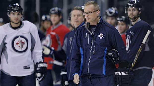New Winnipeg Jets head coach Paul Maurice, right, was hired to replace Claude Noel on Sunday.