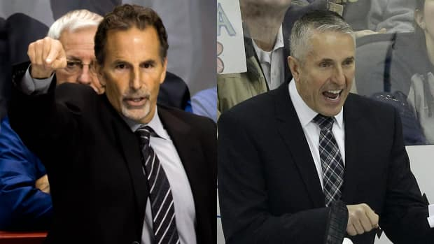 Vancouver Canucks head coach John Tortorella was suspended 15 days and his Calgary Flames counterpart Bob Hartley was fined $25,000 US for their actions during the teams' explosive matchup Saturday. (Canadian Press/Associated Press)