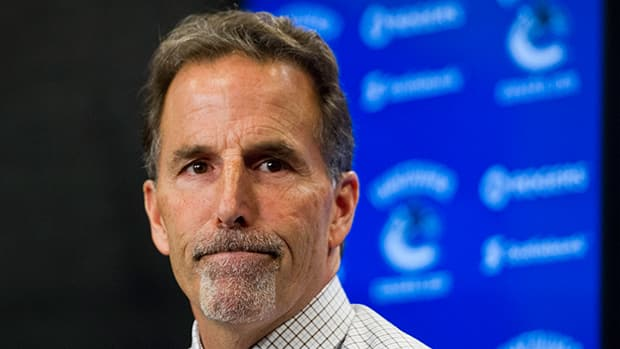 Tortorella went to Calgary's locker room at intermission following the first period Saturday night, which began with a handful of fights and four game misconducts per team. (Rich Lam/Getty Images)