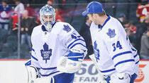 Jonathan Bernier, left, and James Reimer have been left guessing who coach Randy Carlyle considers his No. 1 netminder. (Derek Leung/Getty Images)
