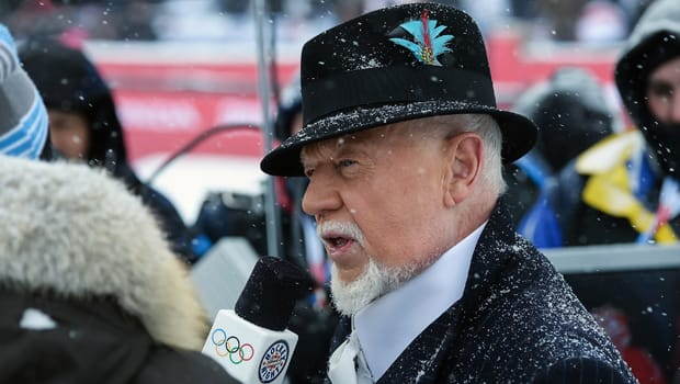Don Cherry, seen here at the NHL Winter Classic at Michigan Stadium in Ann Arbor on Jan. 1, turns 80 years old on Wednesday. (Jamie Sabau/Getty Images)