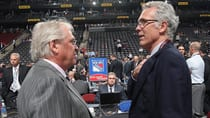 NHL GMs like Craig MacTavish, right, of the Oilers and Glen Sather of the Rangers are dealing with two trade deadlines, of sorts. (Bruce Bennett/Getty Images)