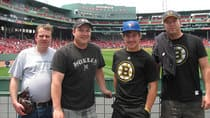 The Payne boys, from left, Shawn, Chad, Brendan and Kevin, visited Fenway Park during their trip from Lloydminster to Boston last year. (Photo courtesy Payne family)
