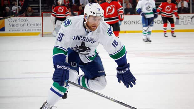 Vancouver Canucks defenceman Ryan Stanton is relishing the opportunity to play in the Heritage Classic on Sunday. (Bruce Bennett/Getty Images)
